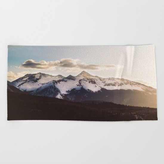 Mountain Valley #hiking Beach Towel