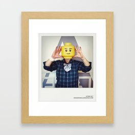 Minifig me ! – Everyone has a LEGO piece inside - 9 Framed Art Print