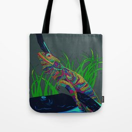 Colorful Lizard Tote Bag