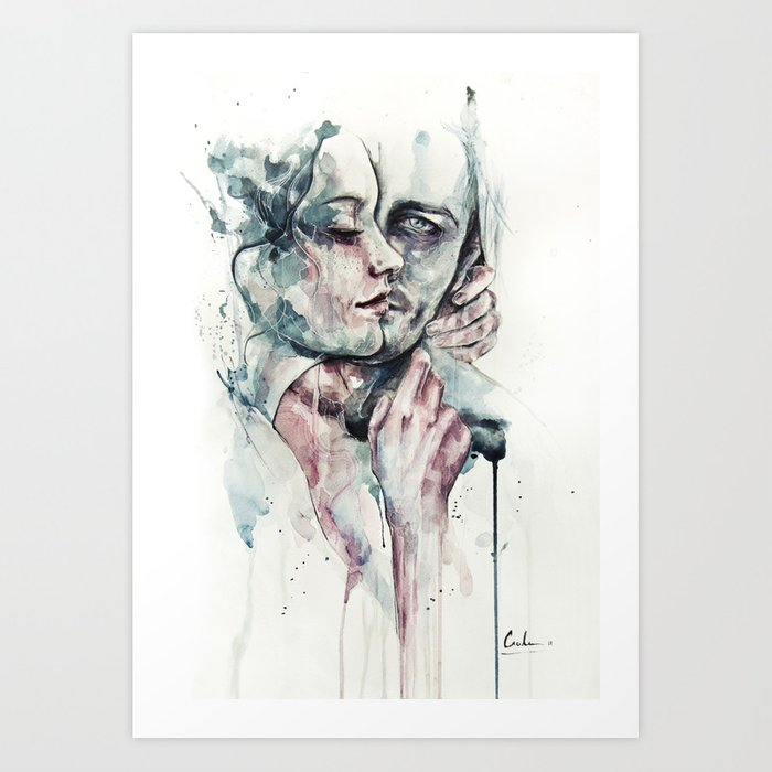 Discover the motif FOREVER YOURS FRECKLES by Agnes Cecile as a print at TOPPOSTER