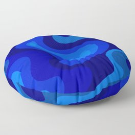 Multicolor Blue Liquid Abstract Design Floor Pillow