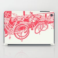 bicycles iPad Cases featuring On Paper: Tokyo Bicycles by Anton Marrast