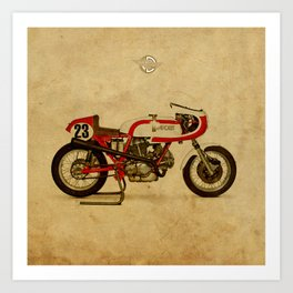 motorcycle 750SS Corsa 1974 Art Print