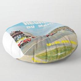 1965 Le Mans poster, Race poster, car poster, garage poster Floor Pillow