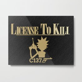 License To Kill C137 Line Design Metal Print