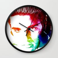 elvis Wall Clocks featuring Elvis by D77 The DigArtisT
