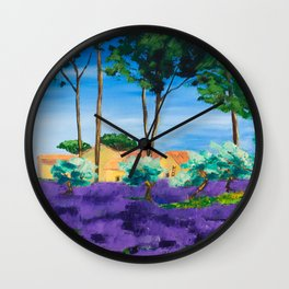 Among the Lavender Wall Clock