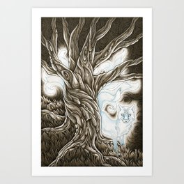 Nine-Tailed Fox Spirit Art Print