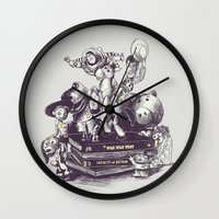 toy story Wall Clocks featuring Toy Story by Alex Solis