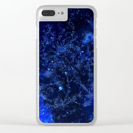 Celestial Blues Clear iPhone Case
