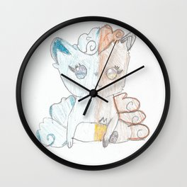 Fire and Ice Vulpix Wall Clock
