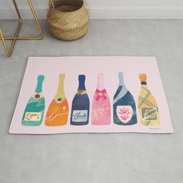 Champagne Bottles - Pink Ver. Rug