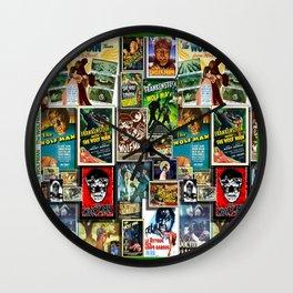 Vintage Wolf by iamjohnlogan Wall Clock
