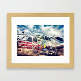 "B-25 Mitchell - The ""Super Rabbit"" - WWII Aircraft Framed Art Print"