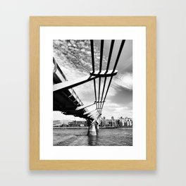 bridge in the sun Framed Art Print