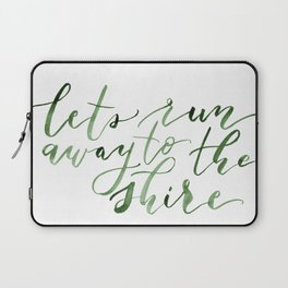 Let's run away (green) Laptop Sleeve