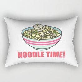 I Love Noodle Kawaii Artwork Rectangular Pillow