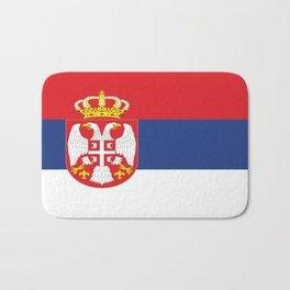 flag of Serbia-balkan,serbian,europe,yugoslavia, Pannonian,Belgrade,Novi Sad,nis,kragujevac Bath Mat