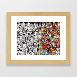 The Congress of the Wise and Evil Framed Art Print