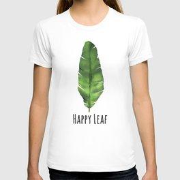 Banana leaf. Watercolor Illustration. T-shirt