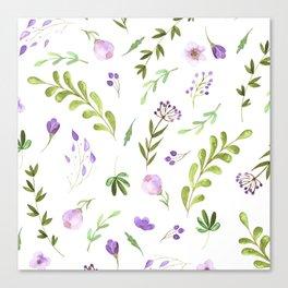 Purple Flower Field Canvas Print
