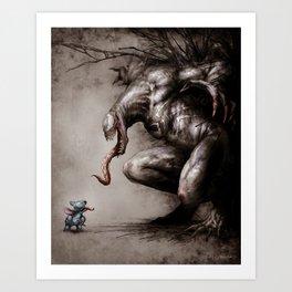 Stitch VS Venom Art Print