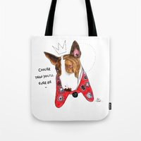 marc jacobs Tote Bags featuring Neville Jacobs by Ash Tarek