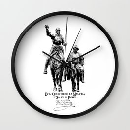Don Quixote, Sancho Panza-Cervantes-Spain-Literature Wall Clock