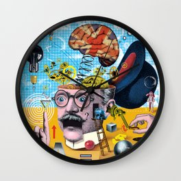 Brain Power Wall Clock