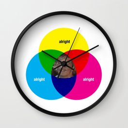 Alright Wall Clock
