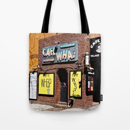 Cafe Wha? Greenwich Village NYC Tote Bag