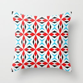 symetric patterns 8 -mandala,geometric,rosace,harmony,star,symmetry Throw Pillow