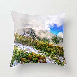 Autumn in Mountains Throw Pillow