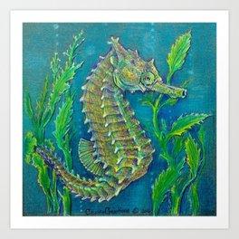 Sea Horse #3 Original Art By Catherine Coyle Art Print