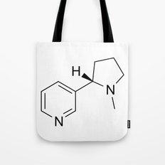 nicotine chemical formula Tote Bag
