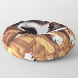 Marty The Soulful Eyed Dog  Floor Pillow