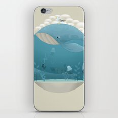 Seagull rest over whale iPhone & iPod Skin