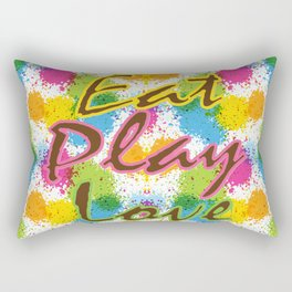 Eat Play Love Rectangular Pillow