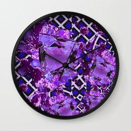 Amethyst Purple Gems February Birthday Babies Wall Clock