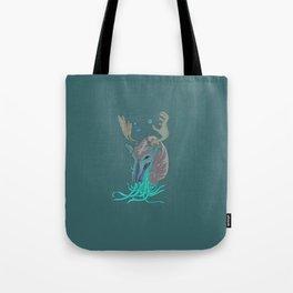 Celestial Nautilus Deer Tote Bag
