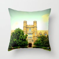medical Throw Pillows featuring duke medical by Chromatic Reflections