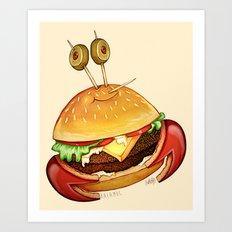 Krabby patty Art Print