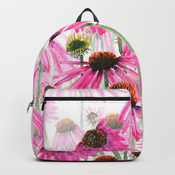 pink coneflower field Backpack