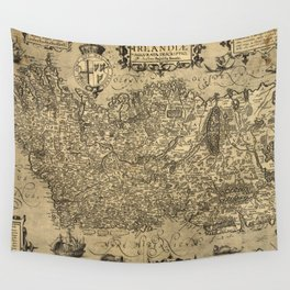 Vintage Map of Ireland (1606) Wall Tapestry