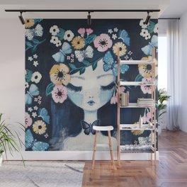 Flower Crown portrait Wall Mural
