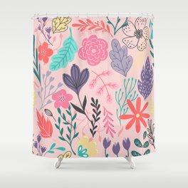 Nature Colorful Blush Duschvorhang