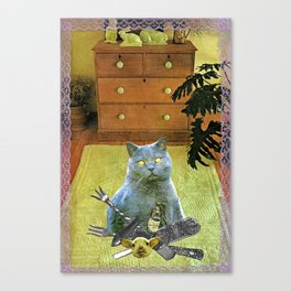 I had to get my own dinner handcut collage Canvas Print