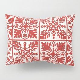 Hawaiian Quilt in Red Pillow Sham
