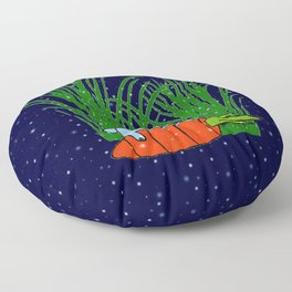 Bonne nuit petit lapin bleu  Floor Pillow
