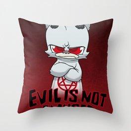Cranky Evil Throw Pillow